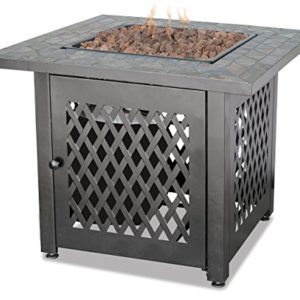 Endless-Summer-GAD1429SP-Gas-Outdoor-Fireplace-with-Slate-Mantel-0
