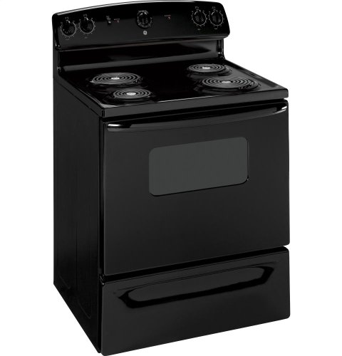 GE JBS07MBB Quick Clean 30″ Black Electric Coil Range