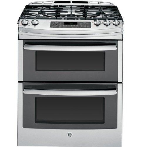 GE PGS950SEFSS Profile 30″ Stainless Steel Gas Slide-In Sealed Burner Double Oven Range – Convection