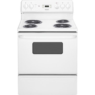 HOTPOINT GIDDS-53-6569 30″ 5 Cu.Ft. Free-Standing Electric Range, White