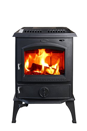 HiFlame 1,800 Square Feet 63,000BTU cast iron wood burning stove HF717U Black Paint