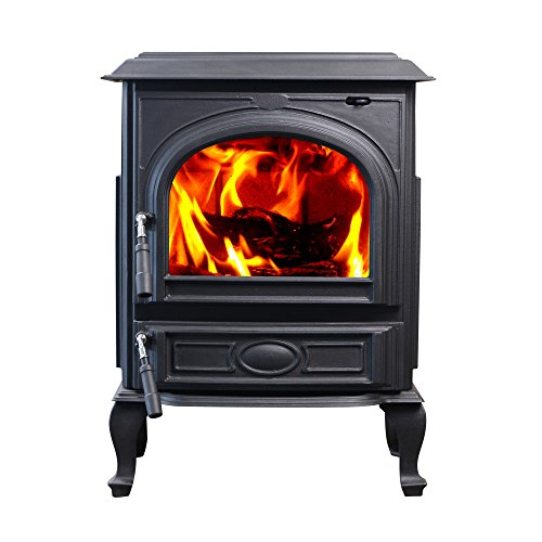 HiFlame 63,000 BTU freestanding cast iron wood burning stove HF717UA
