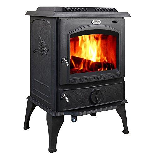 HorseFlame all cast iron freestanding wood burning stove 717U Matt black