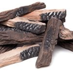 Large Gas Fireplace Logs | 10 Piece Set of Ceramic Wood Logs. All Types of Indoor, Gas Inserts, Ventless & Vent Free, Electric, or Outdoor Fireplaces & Fire Pits. Realistic Clean Burning Accessories image