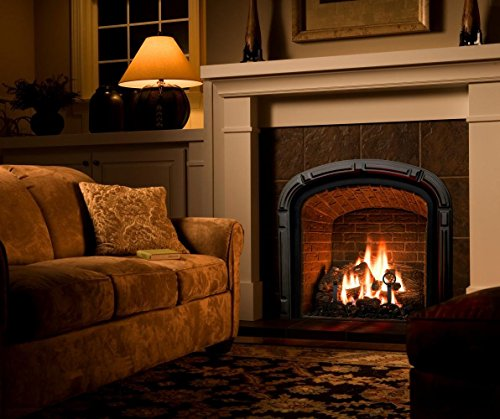 Large Gas Fireplace Logs | 10 Piece Set of Ceramic Wood Logs. All Types of Indoor, Gas Inserts, Ventless & Vent Free, Electric, or Outdoor Fireplaces & Fire Pits. Realistic Clean Burning Accessories