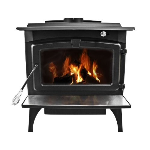 Pleasant Hearth 1,800 Square Feet Wood Burning Stove, Medium