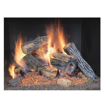 Sure Heat BRO18NG Sure Heat Burnt River Oak Vented Gas Log Set, 18-Inch, Natural Gas