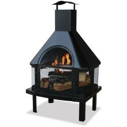 WAF1013C – BLUE RHINO WAF1013C UF 45inHgh Otdr Firehouse Blk Details about NEW Blue Rhino WAF1013C Outdoor Wood Burning Fireplaces