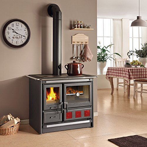 "Wood Burning Cook Stove La Nordica ""Rosa XXL"", with Baking Oven"